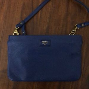 Bags - Fossil blue crossover purse